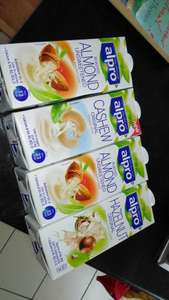 Morrisons Alpro Longlife Dairy Free Milks 1 litre 4 for £4 (includes soya, rice, almond, hazelnut, cashew, etc)