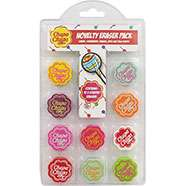 Pack of 10 Scented Chupa Chups Novelty Erasers £1.50 Del with code / £1.20 C+C @ The Works (other Chupa Chups / Swizzles Stationery items in op / 1st post)