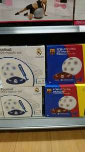 Real Madrid and Barcelona football mini match set £3 at tesco