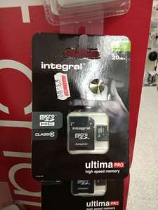 8GB Micro SD Card with adapter -  Class 10 £3 @ Wilko