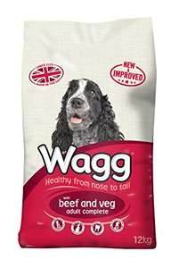 Amazon Prime Deal : Wagg Dog Food Complete Beef and Veg, 12kg £7.20