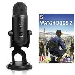 Blue Yeti USB Microphone - BlackOut + Watch Dogs 2 £89.99 / £87.74 with Quidco Cashback @ GAME Instore and Online