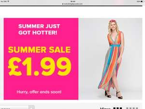 Summer Sale Items £1.99 at Everything 5 pounds.com