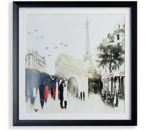 Framed Parisian Cafe Scene Canvas £3.49 @ Argos (C&C)