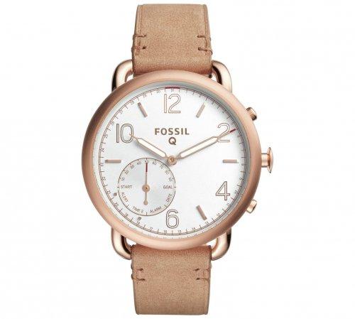 Fossil Q Tailor Gazer Hybrid Sand Leather Strap Smart Watch - Argos - £165