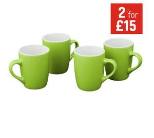 ColourMatch Stoneware 4 Piece Mug Set - Half Price £4.99 @ Argos