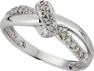 9ct White Gold 0.10ct tw Diamond Bow Fancy Ring £62.49 @ Argos (InStore)