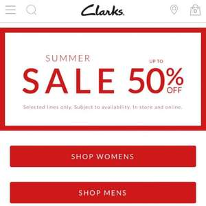 Clarks summer sale upto 60% off @ Clarks - prices from £13 Now further discounts upto 60% off and free click & collect