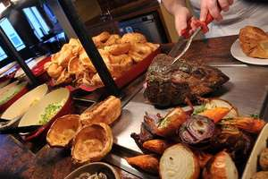 Get a carvery and either unlimited soft drink, pint of beer or cider or glass of wine for £14.95 for 2 - £7.48 each at Toby Carvery / Groupon