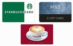 Get a £10 Marks & Spencer, Costa or Starbucks eGiftcard when you book with NCP Car Parks