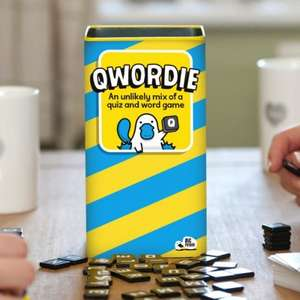 Qwordie board game £15.00 [lightning deal] Sold by Big Potato and Fulfilled by Amazon.