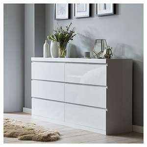 Up to 50% Indoor Furniture with code (e.g. Maine 6 Drawer Chest - White Gloss was £199 now £99.50) @ Tesco Direct