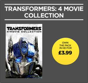 Transformers: 4 Movie Collection (HD) £3.99 at Wuaki
