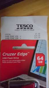 Cruzer Edge USB flash drive. £14 instore @ Tesco