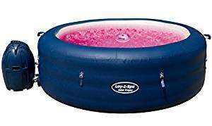 Lay-Z-Spa Saint Tropez Hot Tub with Floating LED Light, Airjet Inflatable Spa, 4-6 Person £369.99 - Amazon