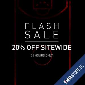 NBA Store 24hr Flash Sale 20% off. From midnight 20th June.