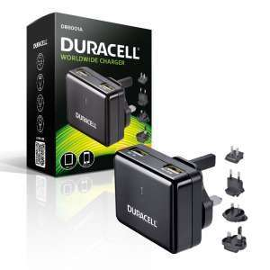 Duracell Mains to Twin USB High Output 2.4A Travel Charger £10.79 @ 7day shop