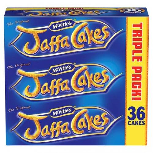Tesco - McVities Jaffa Cakes Triple Pack (3x12 cakes) Was £3.19 Now £1.59 - Half Price
