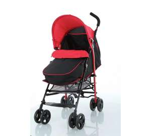 Fisher-Price Black and Red Pushchair With Footmuff now £29.99 / Fisher-Price Travel System for £59.99 @ Argos