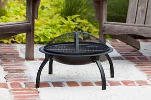 Large Folding Fire Pit with Free Carry Case £31.98 delivered @ Groupon