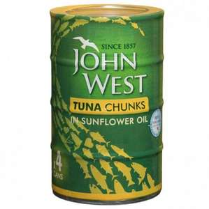 Tuna Chunks 4 x 145g  In Sunflower Oil / Brine / Spring Water for just £2.69 @ Poundstretcher