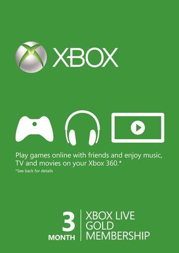3 Months Xbox live gold membership - £9.49 @ CDKeys