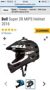Bell super 2 R MIPS. In black and white  or black and blue. Saving 40% £113.99 @ Chain reaction cycles