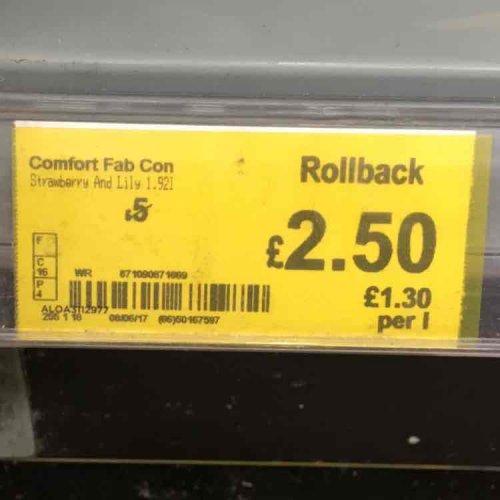 Half Price - Comfort Fabric Conditioner 85 Wash 3L £2.50 @ Asda