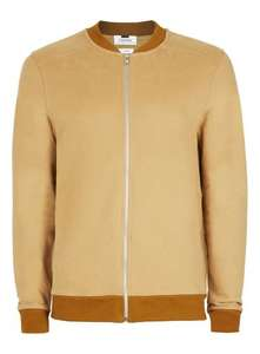 Tan Jersey Bomber Jacket £9 @ TOPMAN