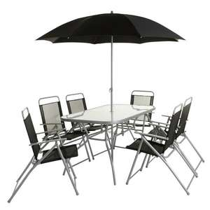 Wilko Garden Rectangle Dining Set 8 Piece including Parasol now £98 delivered **Now £88** @ Wilko