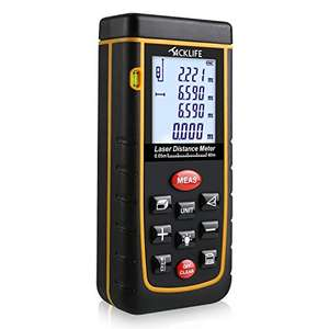 Advanced Digital Laser Measure 40m Distance With Backlight Function £17 using code, Free P&P @ Amazon JT-UK