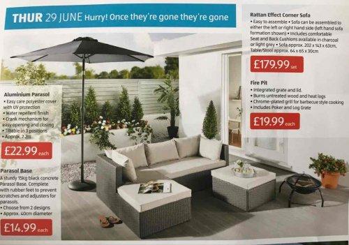 Aldi Garden Sofa thingy £179.99 instore Wakefield