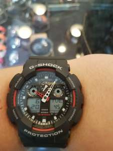 Men's Casio G-Shock Alarm Chronograph Watch (GA-100-1A4ER) - WATCH SHOP.com™ £63