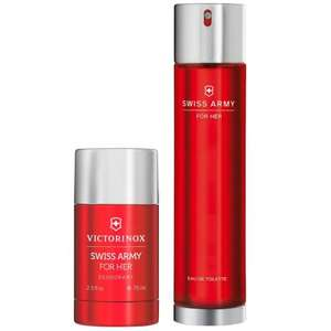 Victorinox Swiss Army Her EDT 100ml &Deodorant 75ml £15.00!(DAMAGED BOX FREE P&P) @ eBay (seller onlinebeautybuys)