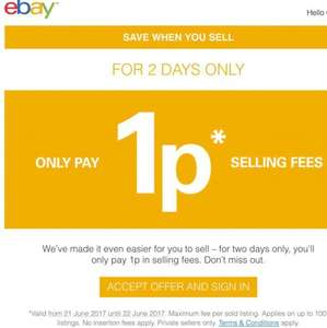 eBay 1p final fee for 2 days (21-22/6/17) (selected accounts by invite only)