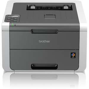 Brother HL-3140cw Wi-Fi Colour Laser Printer 118.99 but possible £95.91 after cashback & newsletter email code @ Staples