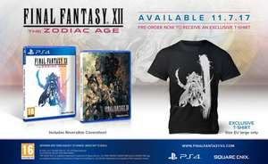 Final Fantasy XII The Zodiac Age Pre-order with limited edition official T-Shirt (PS4) £29.85 delivered from SimplyGames