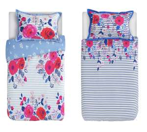 Collection Phoebe Floral Twin Pack Bedding Set - Single @ Argos for £4 (£2 each!)