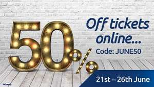 50% off Tickets at Odeon when you book online - Terms Apply (June 21st - 26th)