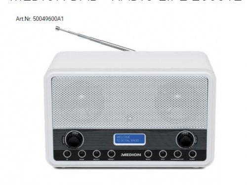 MEDION DAB+ RADIO LIFE E66312    Art.Nr. 50049600A1 £24.94 delivered @ Medion