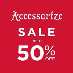 Accessorize up to 50% sale + Extra 10% on sale code