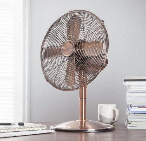 """Tesco 12"""" Metal Desk Fan Copper - £20 Free C&C from Tesco"""