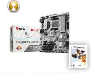 MSI Tomahawk Artic B350 motherboard with Overwatch at CCLOnline for £106.66