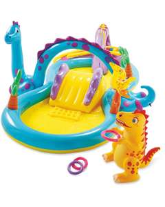 Dinoland play centre with paddling pool, slide, water sprayer, balls and hoops now £29.99 delivered more garden stuff in post @ Aldi