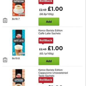 kenco barista sachet range only £1 @ Asda in store and online