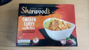 sharwoods chicken curry with rice frozen meal 375g - 31p instore at Asda