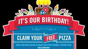 Free Personal 2 Topping Pizza - Dominos Cranford