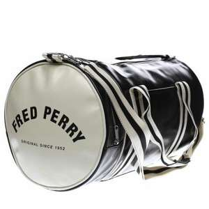 Fred Perry Barrel Bag Black/White or Blue/White £34.99 @ Schuh