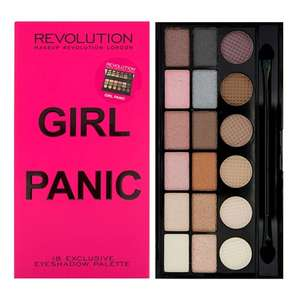 Make Up Revolution Lipsticks, Eyeshadows & Blushers from £1 +  Free Girl Panic Salvation Palette on £12 spend + Free Delivery at Superdrug