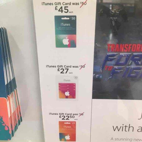 10% off iTunes cards in Asda